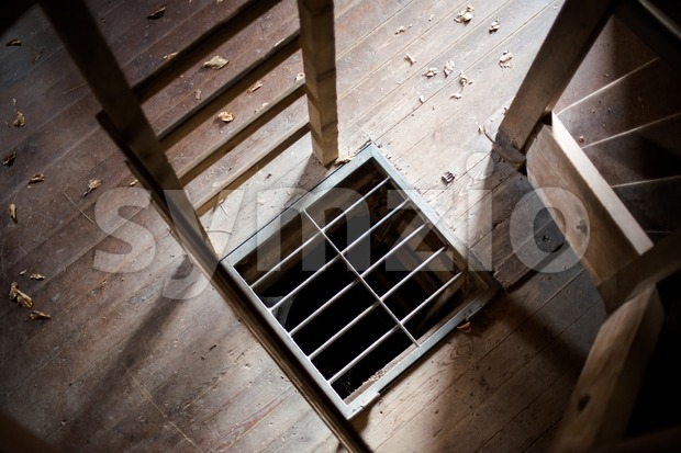 Convict Cell Entrance Stock Photo