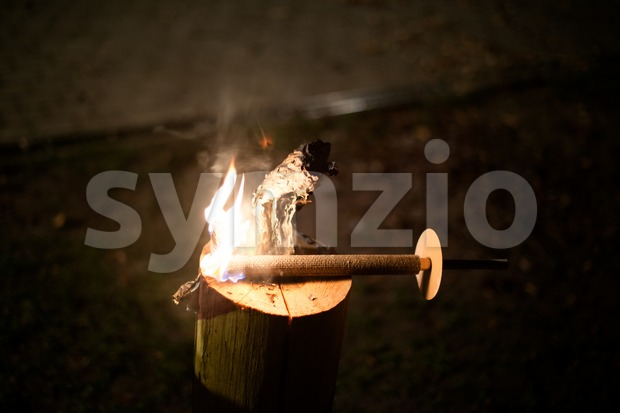 Burning Torch Stock Photo