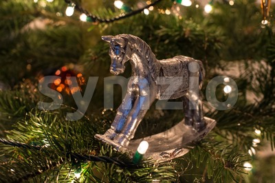 Christmas-Tree Decorations Stock Photo