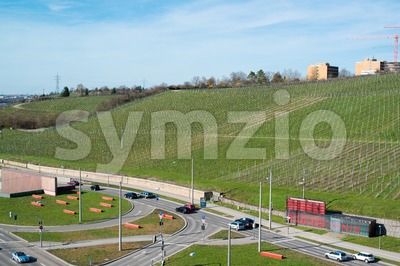 Pragsattel intersection in Stuttgart, Germany Stock Photo