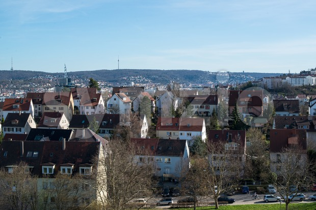 Pragsattel residential area in Stuttgart, Germany Stock Photo
