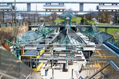 Pragsattel subway station in Stuttgart, Germany Stock Photo
