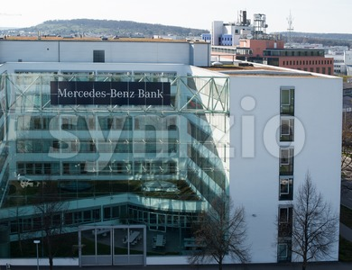 Building of Mercedes-Benz Bank in Stuttgart Stock Photo