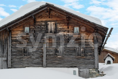 Gorgeous old skiing hut Stock Photo