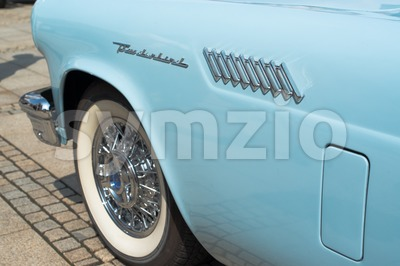 Ford Thunderbird Classic Car Detail Stock Photo