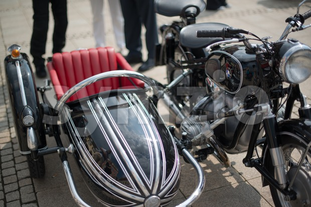 BMW classic sidecar motorbike Stock Photo