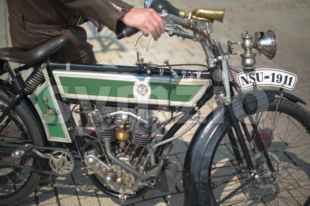 NSU classic motorbike made 1911 Stock Photo