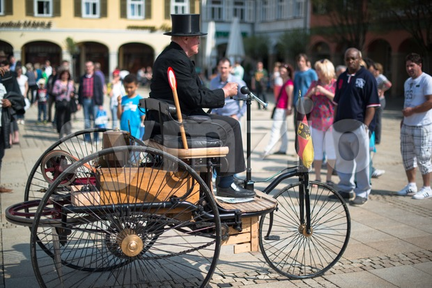 Benz Patent-Motorwagen Stock Photo