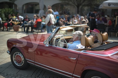 Mercedes SL 280 classic car Stock Photo
