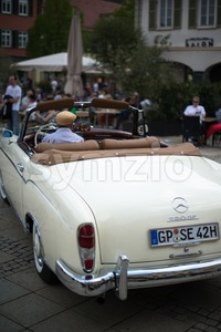 Mercedes SE 220 classic car Stock Photo