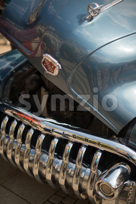Buick Eight classic car with open hood Stock Photo