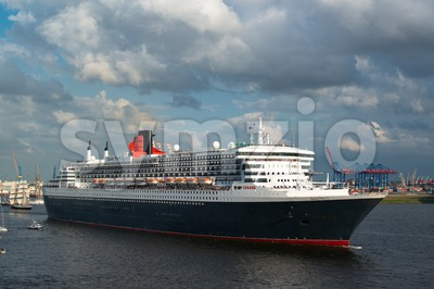 Queen Mary 2 the great luxury cruise ship Stock Photo