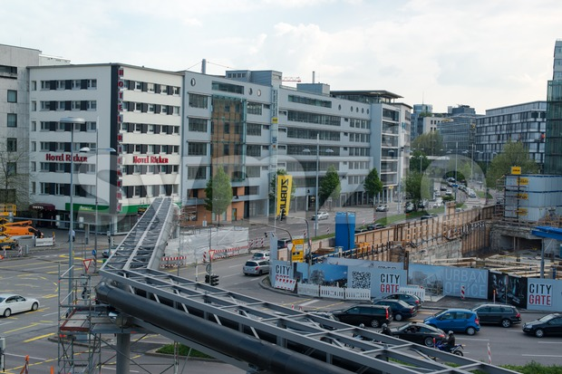 Stuttgart 21 Panorama of construction works Stock Photo