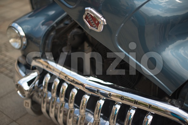 LUDWIGSBURG, GERMANY - MAY 5, 2013: A Buick Eight classic car is presented during the eMotionen show on the market ...