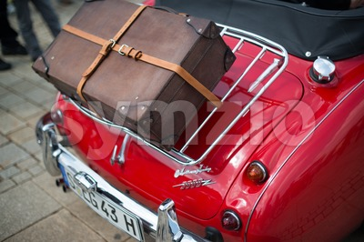 Austin Healey 3000 - classic car detail Stock Photo