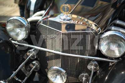Excalibur Classic Car Detail Stock Photo