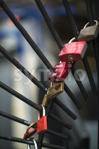 Love padlocks Stock Photo