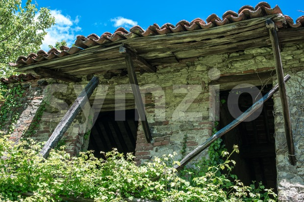 Abandoned House in Liguria, Italy Stock Photo