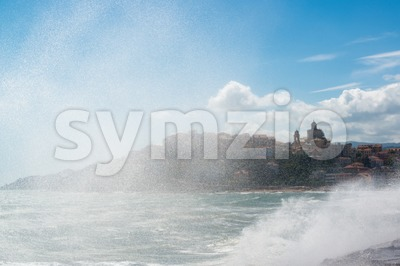 Imperia seen through spray Stock Photo