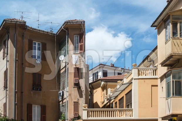 Typical Italian Facades Stock Photo