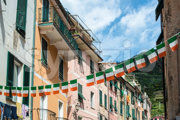 Streets of Vernazza, Cinque Terre Stock Photo