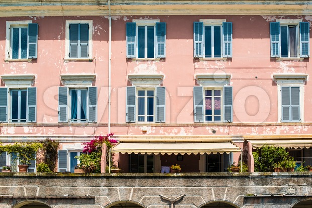 Beautiful Italian Facade Stock Photo