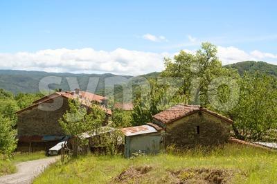 Old farm in Liguria, Italy Stock Photo