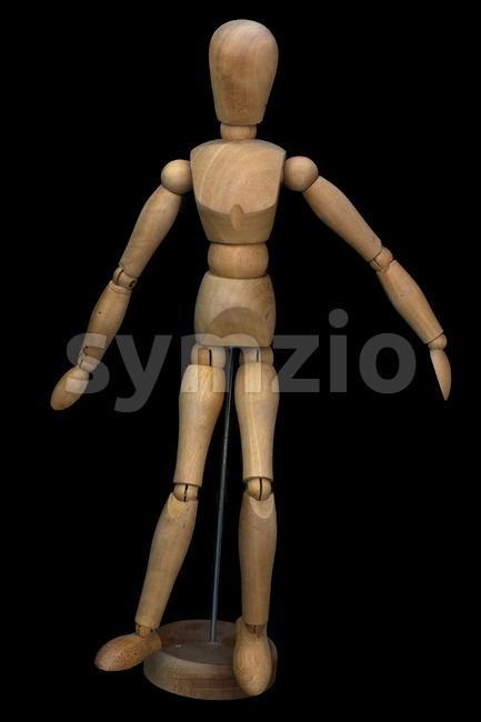 Wooden pose puppet (manikin) Stock Photo
