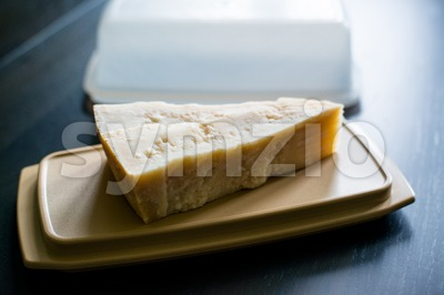 piece of parmesan cheese Stock Photo