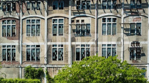 Old Factory Facade Stock Photo