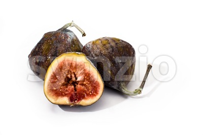 ripe figs isolated Stock Photo