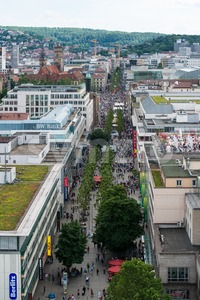 Stuttgart - Shopping from above Stock Photo