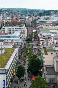 Stuttgart - Shopping from above Stock Photo