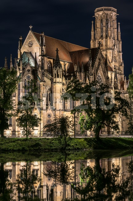 Johanneskirche, Stuttgart, Germany Stock Photo
