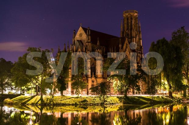 Johanneskirche, Stuttgart, Germany Stock Photo