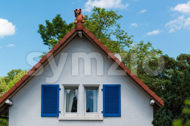 Gable with Teddybear Stock Photo