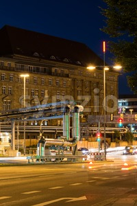 Construction site of Stuttgart 21 at night Stock Photo