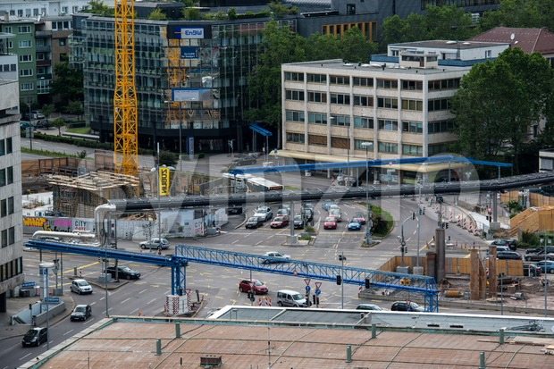 Construction site of Stuttgart 21 Stock Photo