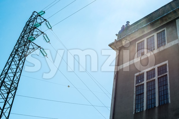 Old Electric Power Substation Stock Photo