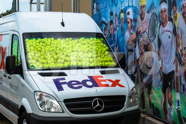 STUTTGART, GERMANY -July 7, 2013: Promotion activities during the ATP World Tour tennis championship at the Weissenhof on July 7, ...