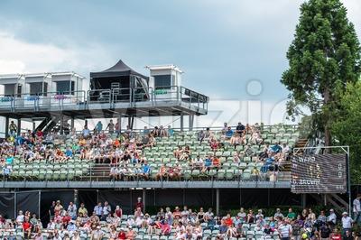 Spectators of the ATP trophy in Stuttgart, Germany Stock Photo