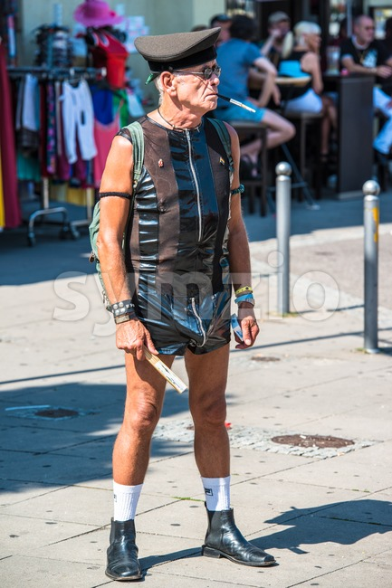 Participant of Christopher Street Day Stock Photo