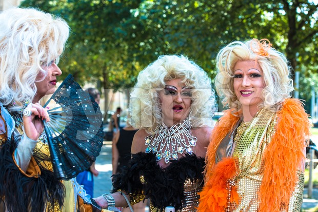 Dragqueens on Christopher Street Day Stock Photo