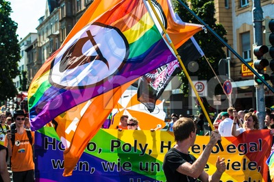 Piraten Partei (pirate party) is participating on Christopher Street Day Stock Photo