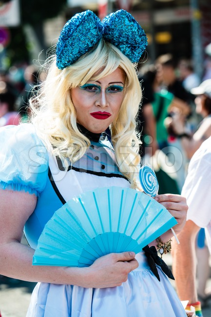 Gorgeous participant of Christopher Street Day Stock Photo