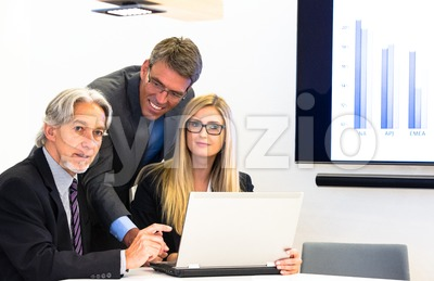 Group in business meeting Stock Photo