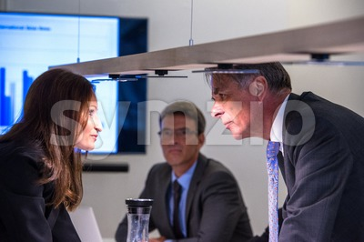 Conflict in office Stock Photo