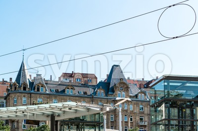 Stuttgart Marienplatz Stock Photo