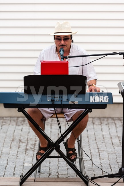 Solo Entertainer Stock Photo