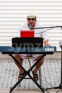 Solo Entertainer Stock Photo